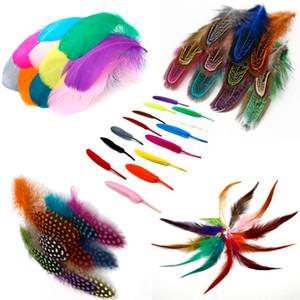 Pluma de avestruz / ganso / pollo faisán pluma DIY decoración de la boda elegante fiesta ropa accesorios plumas 500 piezas color de la mezcla