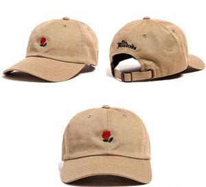 Yüzlerce Top Kapaklar Unisex Gül Işlemeli Snapback Erkekler Ve Kadın Beyzbol Kapaklar 8 Renkler Moda Golf Şapka Ayarlanabilir Sun Hats