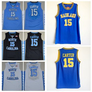 Mens Vince Carter # 15 Mainland High School Basketball Jersey Vince Carter North Carolina Tar Heels College Couché Basketball Chemises