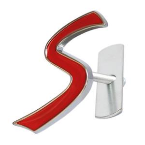 Emblema Metal 3D S Front Grille Etiqueta para o Mini Cooper R50 R52 R53 R56 R57 R58 R60 JCW Grill emblema decalques Exterior Acessórios