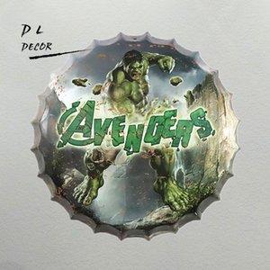 35 cm Hulk Tampa De Garrafa De Cerveja De Metal Sinal Da Lata Do Vintage Decoração Da Casa Do Sinal Da Lata Decoração Da Parede de Metal Sinal de Decoração Da Parede 3D placa de Metal