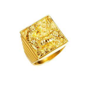 MGFam (250R) Bagues Tiger For F Men 24K Pure Gold Plaqué de bijoux d'Animel 09/08/11/11 (US)