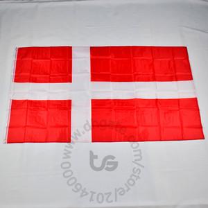 Dinamarca / bandera nacional danesa libre 3x5 envío FT / 90 * 150cm Colgando de la bandera nacional de Dinamarca / danés decoración del hogar bandera de la bandera