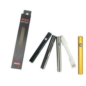 최대 Vape 배터리 510 실 Vape 펜 배터리 380mAh 변수 전압 예열 기화기 펜 E CIG 배터리 전자 담배 배터리 USB 충전기