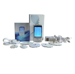 New JTKENS 2 채널 TENS 장치 디지털 EMS 마사지기 전극 근육 자극기 바디 헬스 케어 물리 치료기