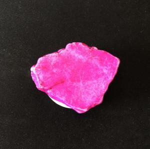 Piedra de Halloween regalo soporte para teléfono ABS irregular natural de la turquesa del saco de aire del móvil de soporte titulares de mármol creativo Glitter