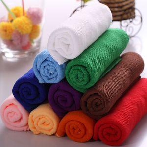 YH8048 Plaza suave microfibra toalla 25x25cm Car Wash de limpieza de microfibra paño limpio el cuidado de las manos Toallas Cámara de limpieza