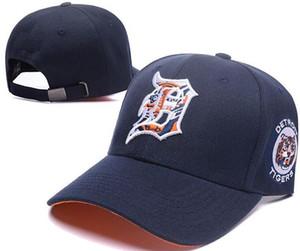 Yeni Marka tasarımı Detroit Şapka D logosu Kap Erkek Kadın Beyzbol Kapaklar Snapback Katı Renkler Pamuk Kemik Avrupa Amerikan Moda şapka 002