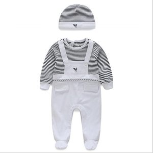 Einzelhandel Frühjahr Neue Marke Babyspielanzug Mit Langen Ärmeln 2 Stücke Weiche Baumwolle Neugeborenen Babykleidung Mode Baby Pyjamas Säuglingskleidung