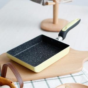 주방 도구 옥 버너 광장 프라이팬 알루미늄 합금 비 스틱 요리사 그릴 팬 금연 팬 요리 액세서리