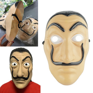Cosplay Party Mask La Casa De Papel Face Mask Salvador Dali Costume Movie Mask Realistic Halloween XMAS Supplies Gift WX9-540