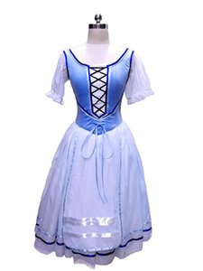 Blue Giselle Romantic Tutus Napoli Tutu Dress Peasant Ballet Tutu Costume Blue White Village Girl Professional Ballet Tutu Adult