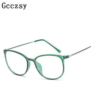 Gcczsy 2017 New Vintage Prescription Occhiali da vista Donne del progettista di marca Occhiali da vista Occhiali lenti trasparenti Occhiali da sole maschili femminili