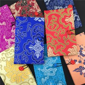 Luxo Capa Dura de Seda Chinesa Notebook Presente Do Vintage Cor Adulto Diário brocado Em Branco Artesanato Negócio Notepad Notebook 1 pcs