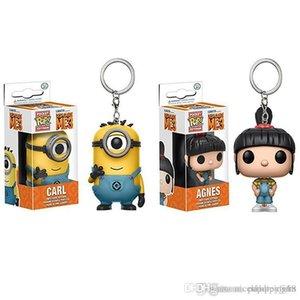 POPOToyFirm FUNKO Rick und Morty Despicable Me 3 Minions Agnes POP Pocket-Schlüsselanhänger Action Figure Movie-Zubehör Key Chian Keychain