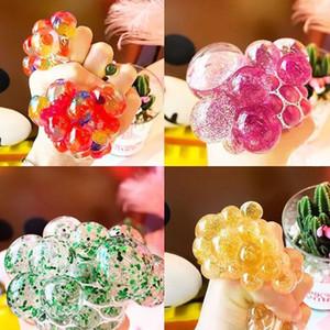 Brinquedo de descompressão Brinquedo de ventilação criativo bola de uva ouro rosa Ventilação descompressão bola de uva Contas de cristal Novidade