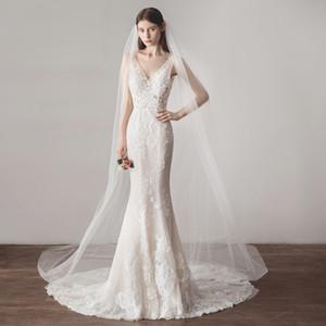 New Cathedral Long Wedding Veli da sposa con doppi pettini White 3 Meters Long 1Tier Vestidos Veli da sposa CPA1623