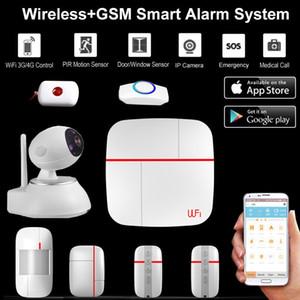 Sistema di allarme domestico WiFi WiFi + GSM IOS Android APP controllato Smart Home Security Antifurto intelligente con kit telecamera IP