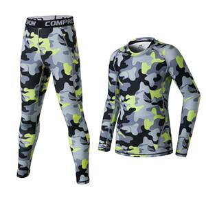 2018 Kids Men compressione pantaloni da corsa camicie set sport survêtement calcio calcio collant allenamento basket leggings