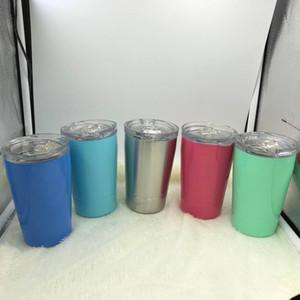 12 أوقية الفولاذ المقاوم للصدأ بهلوان الاطفال معزول كوب مع غطاء والقش مصغرة أكواب القهوة القدح 350 ملليلتر النبيذ كؤوس الأطفال طفل