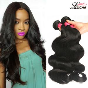 Peruvian Virgin Hair Body Wave 100% paquetes de armadura de cabello humano Sin procesar Peruvian Malaysian Indian Camboyano Mongolia Remy Body Wave