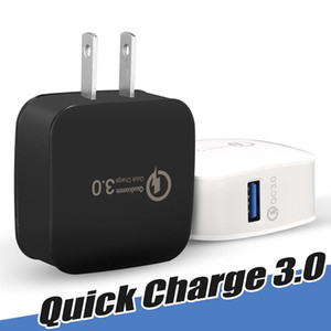 QC3.0 Wall Charger Power Adapter ricarica rapida SIAMO Home Travel Adapter UE tappa per iPhone 7 8 X Samsung Huawei No Pacchetto