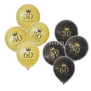 12pcs 30. 40. 50. 60. 70. 80. Geburtstag Ballon Geburtstagsfeier Ballons 30 40 50 60 70 80 Geburtstag Ballons Party Bälle