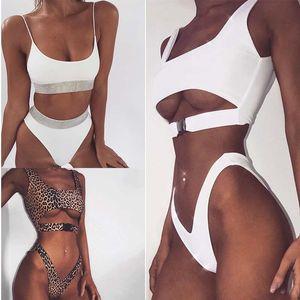 Sexy Bikini Swimwear Mulheres Swimsuit Bikini brasileiro Set Verde Imprimir Top Beach Wear maiôs S-XL