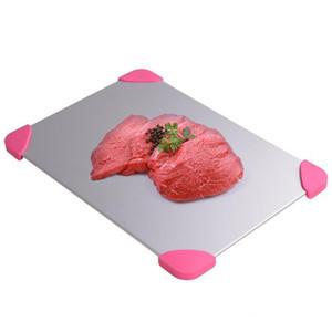 Descongelamiento Práctico Carne Congelada Bandeja Novedad Aluminio Descongelación Rápida Estera Herramientas de Cocina De Aluminio Placa de Descongelación Rápida Para el Hogar 35yc ZZ
