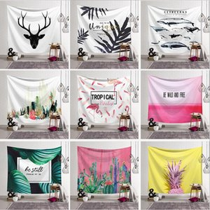 150*130cm polyester American Tapestry cornu cervi Beach Towels fish Throw Yoga Mat Towel Indian Polyester wall hanging Decor