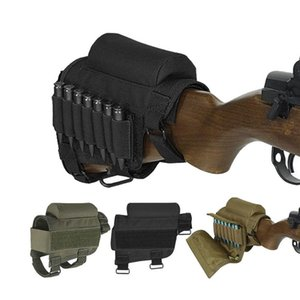 Nylon Tactical Cheek Rest Riser Pad Titular Cartuchos de Munição Carteira Bolsa de Lona Em Torno Do Cartucho shell shell Buttstock Munição