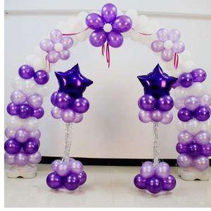웨딩 파티 장식 아치 스탠드 프레임 자료 및 극 풍선 액세서리에 대 한 2pcs / set 풍선 열 스탠드 키트