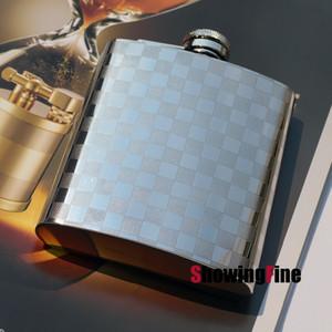 8OZ 8-18 acero inoxidable de lujo whisky licor beber alcohol petaca jarra práctica con el paquete de bolsas de franela