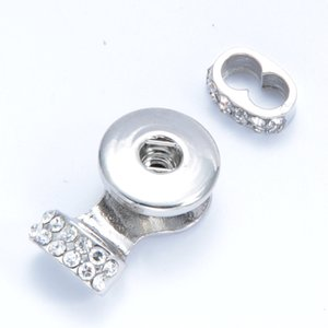 Noosa Chunks ginger Snaps Jewelry Crystal 18MM Snap Button Base for DIY Snap Button Bracelet Jewelry Findings