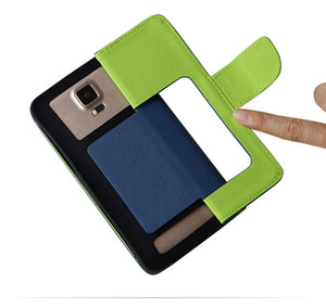 Universal PU Funda de cuero Cartera Tarjeta de crédito Flip Funda para teléfono 3.5 pulgadas a 6.0 pulgadas para iphone Samsung HuaWei LG XiaoMI