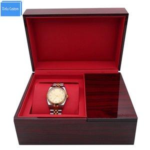 Il la cosa migliore per l'esposizione di lusso lucida di legno delle scatole di orologio del regalo della lacca quadrata del grado in bianco lucido del regalo per la scatola degli orologi guarda la cassa Nuovo arrivo su ordinazione
