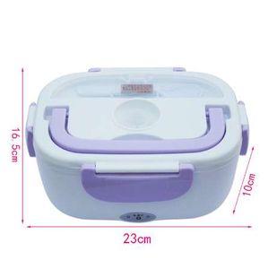 12 V Mini Elektro Auto Wärmedämmung Thermo Lunchbox Lade Heißer Reiskocher Multifunktionale Stecker Kunststoff Box Dichtung Besteck