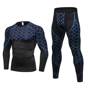 2018 New Men Thermal Underwear Sets Compression Fleece Sweat Quick Drying Thermo Underwear Men Clothing Long Johns