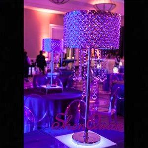 Centres de mariage en gros pour la décoration, cristal suspendu centres de cascade pour la décoration de parti centres de cristal promotion