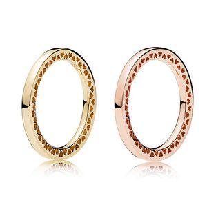 925 Sterling Silver Radiant Hearts Bague en or rose Boîte d'origine pour Pandora Bijoux Bague en or pour les femmes Meilleur cadeau
