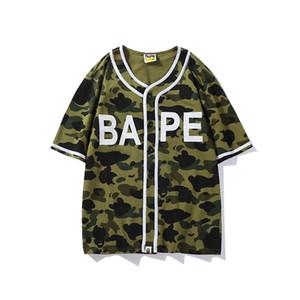 2018 V T-Shirt APE T-Shirts Pullover Kurzarm Off Casual Persönlichkeit T-Shirt Weiß Outdoor Wear Justin Bieber für Männer Frauen Kleidung