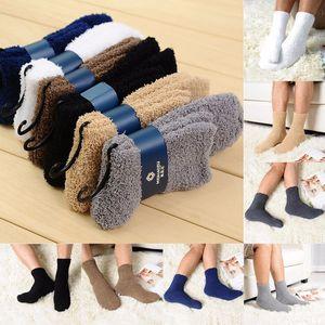 Wholesale- 12pairs urgemütlicher Kaschmir-Socken Herren-Winter-warmer Schlaf Bettboden Startseite Fluffy