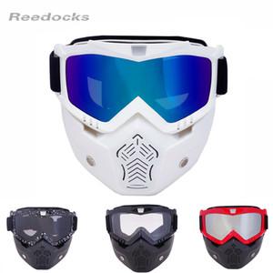 Al por mayor-REEDOCKS 2017 Venta Caliente Máscara Modular Desmontable Gafas filtro de la boca de Esquí de Cristal Hombres Mujeres A Prueba de Viento Nieve Snowboard Gafas de Esquí