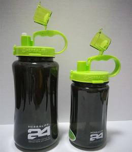 Grand Sports de plein air Bouteille d'eau Voyage Herbalife Camping Randonnée Portable Straw Cap Secouer Coupe santé Consommez avec Lip 1000ML 2000ML 32OZ / 64oz
