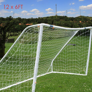 Full Size 12 x 6FT Football Soccer Goal Post Nets High impact, flexible, light and easy to assemble