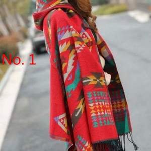 Tonglu scarf imitation cashmere bohemian national wind hooded horn buckle cloak cloak travel air conditioning shawl