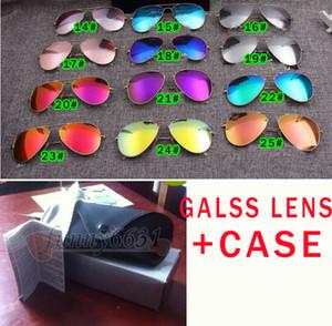 5 세트 여름 남성 눈부신 색상 선글라스 + 케이스 야외 패션 여성 운전 태양 안경 UV400 포장 고글 박스 천으로 31colors