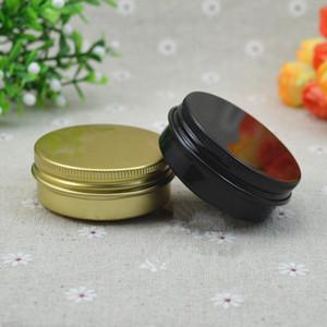 30g En Aluminium Cosmetic Jar Huile À Lèvres Rechargeable Batom Eye Cream Cire Petit Étain Vide Vis Bouchon Lotion Bouteilles F037