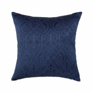 Luxurious Vintage Interior Indigo Blue Home Decorative Pillow Case 45x45cm Jacquard Woven Floor Sofa Chair Home Living Room Cushion Cover