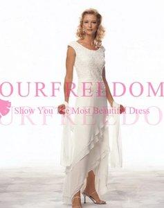 2019 nouvelle arrivée mère de la mariée robe de mariée robe robe de soirée robes de soirée avec Wrap dentelle longueur au genou mère hors robes de mariée